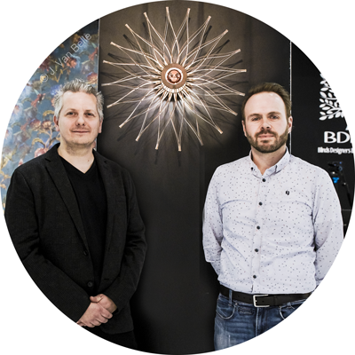 Yves Dejardin et Marc Dethier, administrateurs de  Art Maker